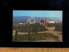 HINTON Alberta Canada : The Hinton Pulp Mill Wood Pulp Paper Plant Usine Papier - Alberta