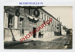 BETHENIVILLE-CARTE PHOTO Allemande-Guerre-14-18-1 WK-FRANCE-51- - Bétheniville