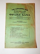 Antique Magazin: Medical Records, Bookstore Franjo Bah, Belgrade, November 1927. / FREE SHIPPING / RARE!!! - Livres, BD, Revues