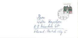 Brief  Winkel B.Bülach - München  (Schnapsdatum 7.7.77-7)         1977 - Switzerland
