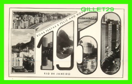 RIO DE JANEIRO, BRESIL - BOAS FESTAS E FELIZ ANON NOVO 1950 - - Rio De Janeiro