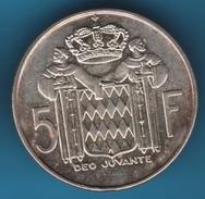 MONACO 5 Francs 1960  Rainier III  ARGENT SILVER - Monaco