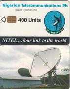 NIGERIA - Earth Station, Nigerian Telecom Plc First Issue 400 Units(3NAIFIE), Chip Sie 35, Used - Nigeria