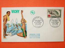FRANCE 1963 - N°1395 Ski Nautique à Vichy Sur Enveloppe.  Superbe