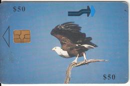 ZIMBABWE - Fish Eagle In Flight, Tirage %50000, Chip GEM3.1, Used - Zimbabwe