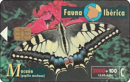 Spanien Phonecard  Schmetterling Butterfly  Papillon Pandora - Vlinders