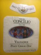 3922 - Vini Del Cocilio Dal 1860Pinot Grigio 1987 Valdadige Italie - Etiquettes