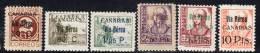 ESPAGNE - POSTE AERIENNE  N°154/159 *  (1936/7) Canarias - Aéreo