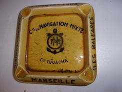 CENDRIER Cie DE NAVIGATION MIXTE Cie TOUACHE MARSEILLE .ILES BALEARES. PORT -VENDRES. ALGERIE TUNISIE - Bateaux