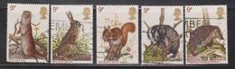 GREAT BRITAIN Scott # 816-20 Used - QE II Animals - 1952-.... (Elizabeth II)