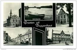(H249d) - Groeten Uit Buggenhout / Gemeentehuis - Scheldezicht - Boskapel - Kerkstraat - Oud Huis Anno 1660 - Buggenhout