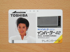 Japon Japan Free Front Bar, Balken Phonecard - 110-1114 / Women, Frau Femme / Toshiba - Japan