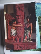 New Zealand Rotoruo Maori Meeting House - Nieuw-Zeeland