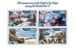 MALDIVES 2014 SHEET BATTLE OF THE BULGE SECOND WORLD WAR SECONDE GUERRE MONDIALE WWII SEGUNDA GUERRA MUNDIAL Mld14407a - Maldive (1965-...)