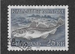 GREENLAND 1981-6,  USED  # 140, COD FISH  USED - Groenland