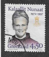 GREENLAND 1997,  USED  # 314,   25th Aniv. Of CORONATION Of QUEEN MARGRETTE Used - Groenland