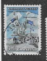 GREENLAND  1989-92  USED  # 189,  CAMPANULA        Used - Groenland