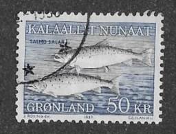 GREENLAND  1981-6   USED  # 141,  SALMO SALAR      Used - Groenland