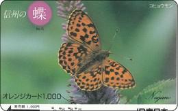 Japan Prepaidcard  Schmetterling Butterfly  Papillon - Vlinders