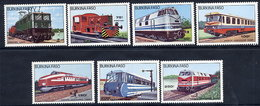 BURKINA FASO 1985 Locomotives MNH / ** - Burkina Faso (1984-...)