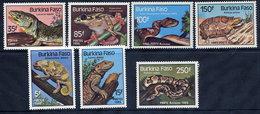 BURKINA FASO 1985 Reptiles MNH / ** - Burkina Faso (1984-...)