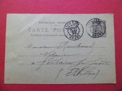 Entier Postal 89-CP5  De Lyon Gare Le 20 Janvier 1899 Pour Fontaines Sur Saône Le 21 Janvier 1899   B/TB - Ganzsachen