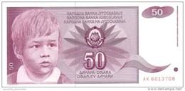 YUGOSLAVIA 50 DINARA 1990 P-104 UNC [YU104] - Yugoslavia