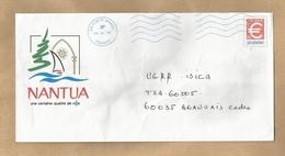 """Enveloppe Entière (mairie Au Dos) Nantua (01-Ain) 2 Scans 09/04/2008 """"La Cigale"""" De Saint-Claude (39-Jura) - Marcophilie (Lettres)"""