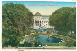 CPM - WIESBADEN - Kurhaus Mit Blumengarten - Wiesbaden