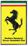 Southern Equitorial Ferrari Automobili Club - 165mm X  277mm - Adesivi