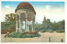 CPM - WIESBADEN - Tempel Auf Dem Neroberg Mit Reitaurant - Wiesbaden
