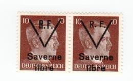 SAVERNE -- Type 1 Et 2 Se Tenant 10pf -- Signé - Liberazione