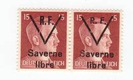 SAVERNE -- Type 1 Et 2 Se Tenant 15pf -- Signé - Liberazione
