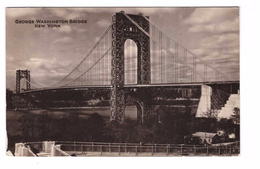 USA Etats Unis Amerique New York NY Pont George Washington Bridge + Timbre Cachet 1936 - Ponts & Tunnels