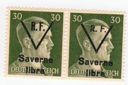 SAVERNE -- Type 1 Et 2 Se Tenant 30pf -- Signé - Liberazione
