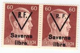 SAVERNE -- Type 1 Et 2 Se Tenant 60pf -- Signé - Liberazione