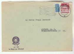 1951 GERMANY COVER Illus OWL Bird ADVERT Hildesheim Allied Zone Stamps Birds Owls - Owls