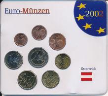 Österreich 2002 - Kompletter Jahrgangssatz - Alle 8 Euromünzen Im Blister - Austria