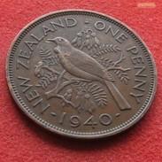 New Zealand 1 One Penny 1940 KM# 13 *V2 Nova Zelandia Nuova Zelanda Nouvelle Zelande - New Zealand