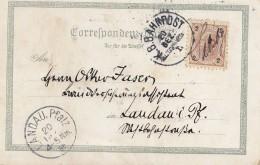Österreich: 1895: Ansichtskarte Salzburg Nach Landau - 1850-1918 Empire