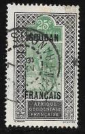 French Sudan Scott # 31 Used Upper Senegal And Niger Stamp Overprinted, 1921 - Sudan (1894-1902)