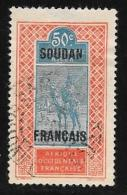 French Sudan, Scott # 39 Used Camel And Rider, Overprinted,1926 - Sudan (1894-1902)
