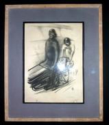 LITHOGRAPHIE ORIGINALE 1930 N°5/50 SIGNEE FRANS DE GEETERE VEL D'HIV CYCLISME  VELO MOTO DERNY - Afiches