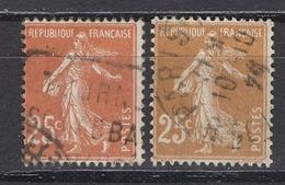 FRANCE 1926/1927 - Y.T. N° 235 X 2 NUANCES  - OBLITERES - - France