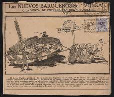 """URUGUAY-SOCCER-1930-METER CANCEL """" 100 AÑOS DE LA PATRIA """" ON NEWSPAPER ,IMPRESO - Non Classés"""