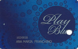 Casino Buenos Aires - Argentina - Play Blue Slot Card - 21603 Valid 12/14 Over Mag Stripe - Casino Cards