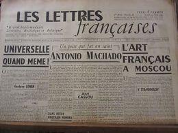 Les Lettres Françaises N°48, 24 Mars 1945 (Paulhan-Peynet-Effel-Machado) - Andere Sammlungen
