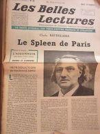 Les Belles Lectures N°29 Du 14 Au 20 Août 1946/ Baudelaire: Le Spleen De Paris - Sin Clasificación