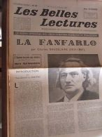 Les Belles Lectures N°82 Du 15 Au 21 Octobre 1947/ Ch. Baudelaire: La Fanfarlo - Non Classés