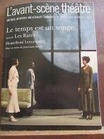 L'Avant-Scène Théâtre N°1235-1236, 1er Janvier 2008/ Le Temps Est Un Songe - Autres Collections